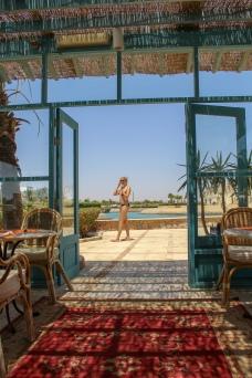 Poolrestaurant mit Blick auf das Meer...